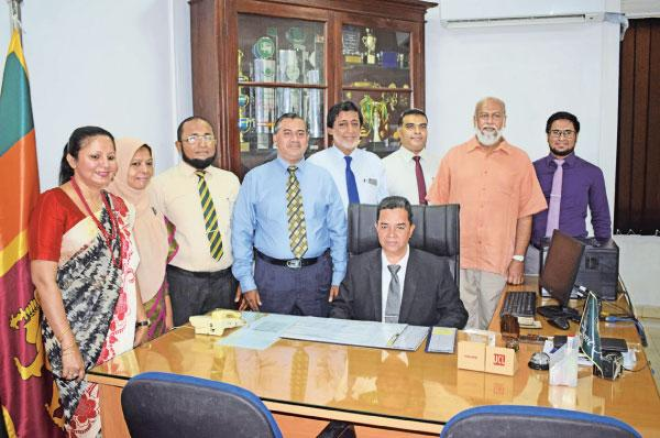 M.N.M. Riza is welcomed by the Board of Directors