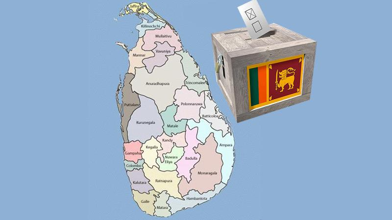 The district map of Sri Lanka