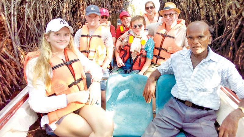 Australian holiday makers enjoying a boat ride