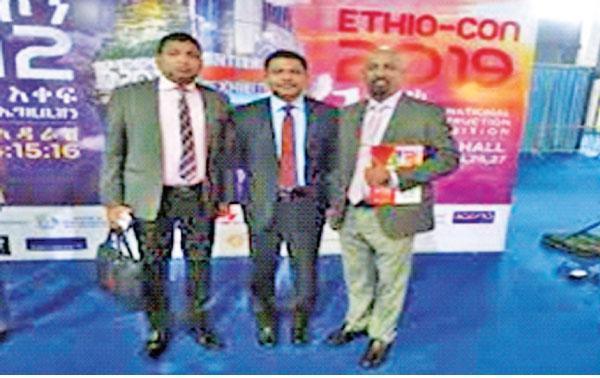 Sri Lankan delegation at Ethiopian construction exhibition