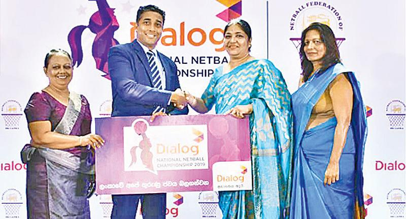 From left: Champa Gunawardane – Secretary, Netball Federation of Sri Lanka, Harsha Samaranayake – Senior General Manager - Brand and Media, Dialog Axiata, Victoria Lakshmi – President, Netball Federation of Sri Lanka and Padmini Horanage – Treasurer, Netball Federation of Sri Lanka at the sponsorship presentation