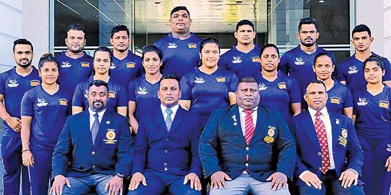 The women's weight lifters comprise Chamari Warnakulasuriya (55kg), Hansani Gomes (49kg), DMS Samarakoon (45kg), RMN Rajapakse (59kg), V. Arshika (63kg), BC Priyanthi (76kg) and TNB Haputenna (above 75kg). Chamari, Hansani and Priyanthi won silver medals each the last time and will endeavour to enhance their medal prospects.   RB Wickramasinghe is the head coach for this tour. Teams: Men: YDI Kumara, Tilanka Palagasinghe, Chaturanga Lakmal, Indika Dissanayake, Chintana Vidhanage, Shanaka Pieters and Ushan C