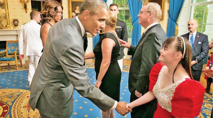 Brina meets former President  Barack Obama