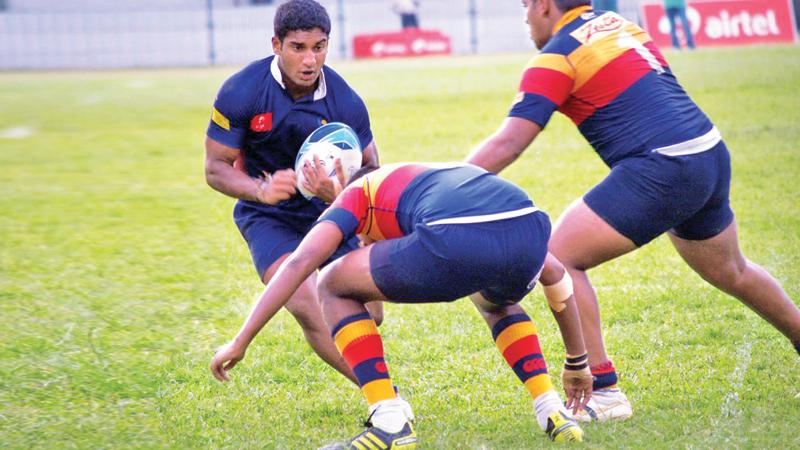 Ariyaratne on the rugby field