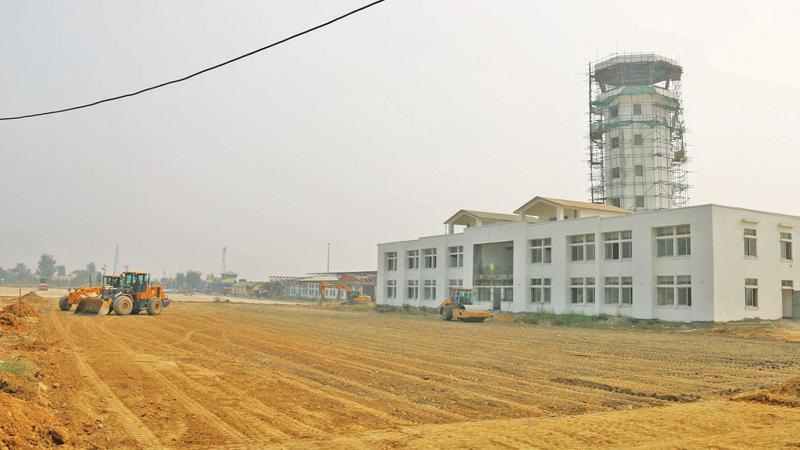 The Gautam Buddha International Airport under construction