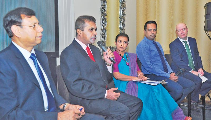 International Union for Conservation of Nature (IUCN) Country Representative Dr. Ananda Mallawatantri (extreme left) with other officials partnering the project. Pic: Thushara Fernando