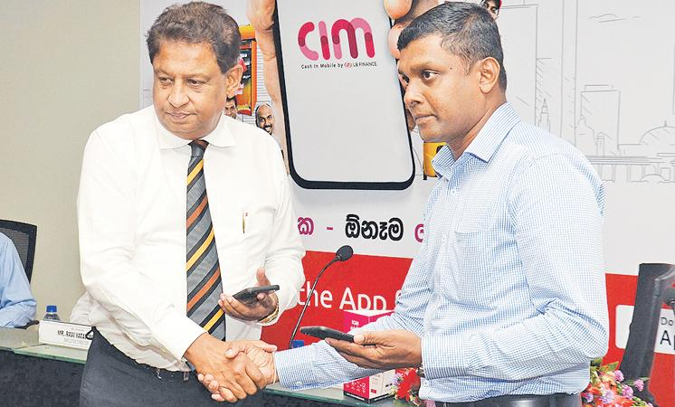 At the launch of LB Finance's mobile wallet. Pic: Wimal Karunathilaka