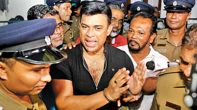 United National Party MP and popular actor Ranjan Ramanayake was arrested last evening by the Colombo South Crimes division for failing to renew the licence of a weapon found in his possession. (Pic by Rukmal Gamage)