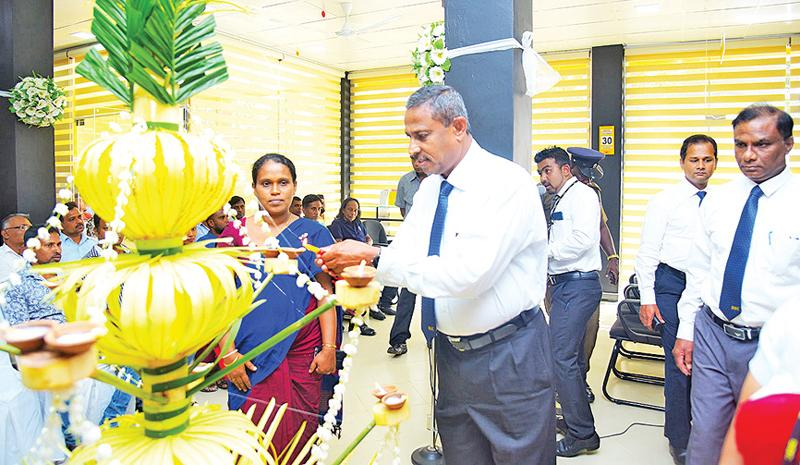 At the opening of one of the branches.