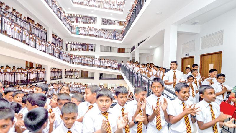 The newly opened seven-storeyed building at Ananda College