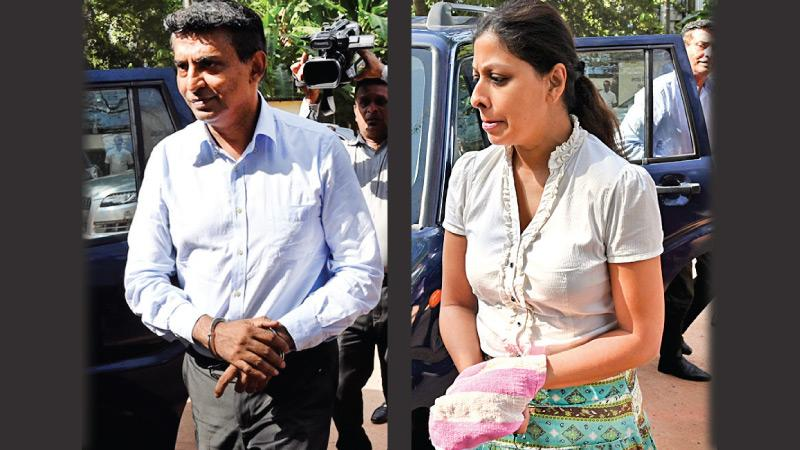 Kapila Chandrasena and spouse, Priyanka Wijenayake - AFP