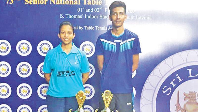 Most outstanding players Hansani Oiumali and Udaya Ranasinghe