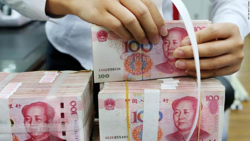 China destroys cash collected in areas