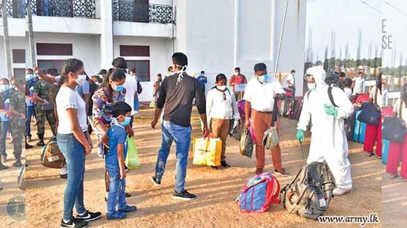 The third batch of 223 returnees who had completed the 14 days quarantine period