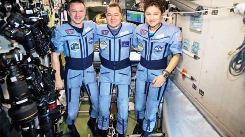 The trio returned to Earth on Friday after many months on the ISS