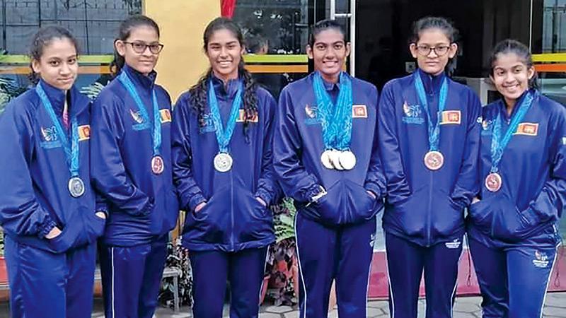 From left: Yehani Kuruppu, Chathurani Karunaratne, Alana Seneviratne, Ganga Seneviratne, Chamudi Karunaratne and Ayla Chitty