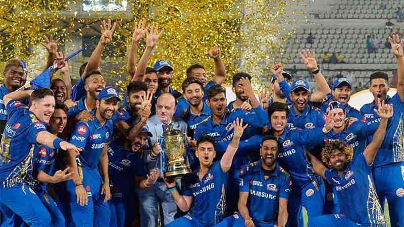 Flashback 2019 the Mumbai Indians celebrate the title