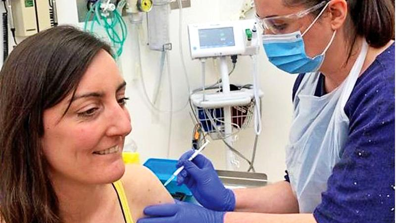 Elisa Granato was the first volunteer to be injected in a human trial