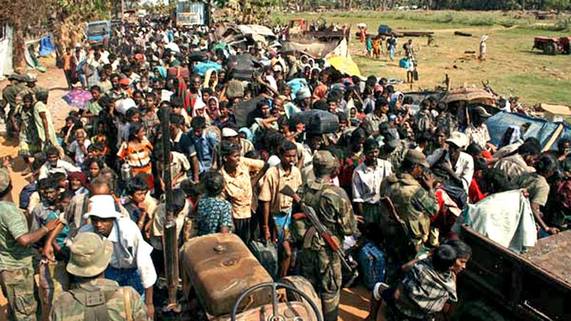 We are finally liberated from the jaws of LTTE terror. ..........  Liberated civilians return to the arms of the Security Forces.