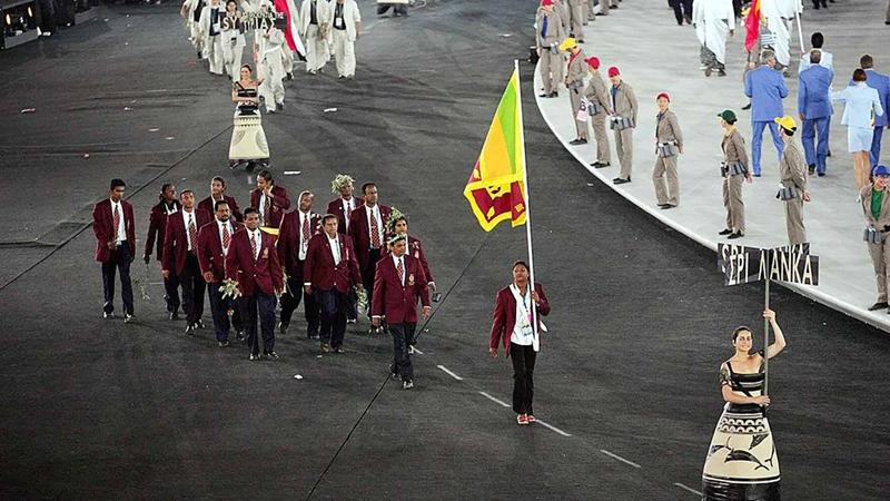 The Sri Lanka Team at the Parade of Nations at the Athens 2004 Olympic Games.