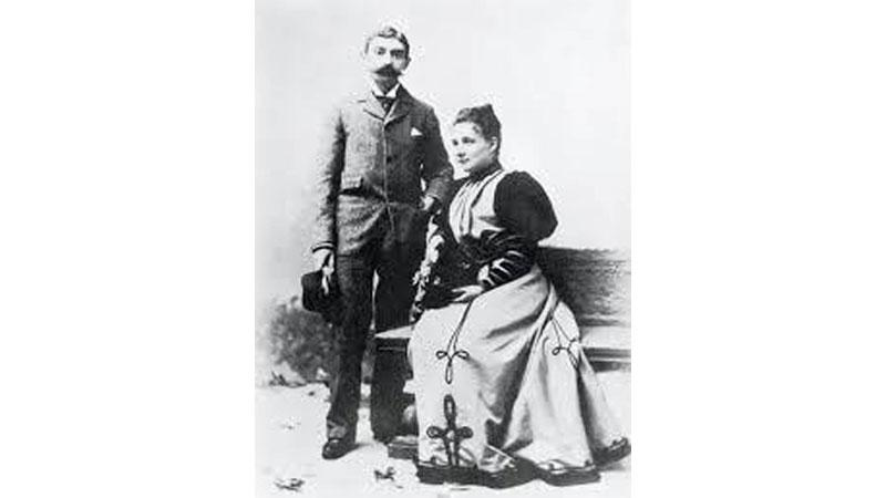 Pierre and Marie de Coubertin – Married for 42 years