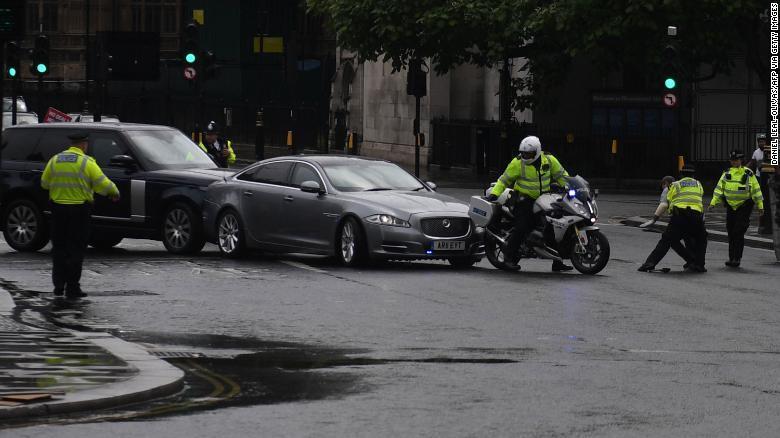 Boris Johnson's convoy in auto crash outside Parliament