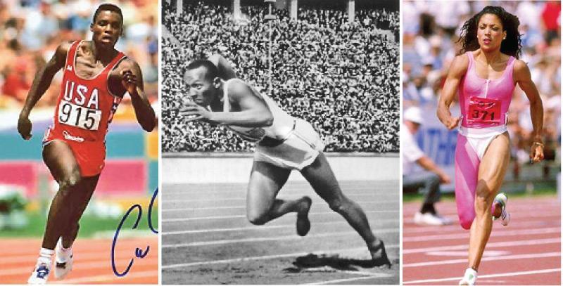 Carl Lewis-Jesse Owens-Florence Griffith-Joyner