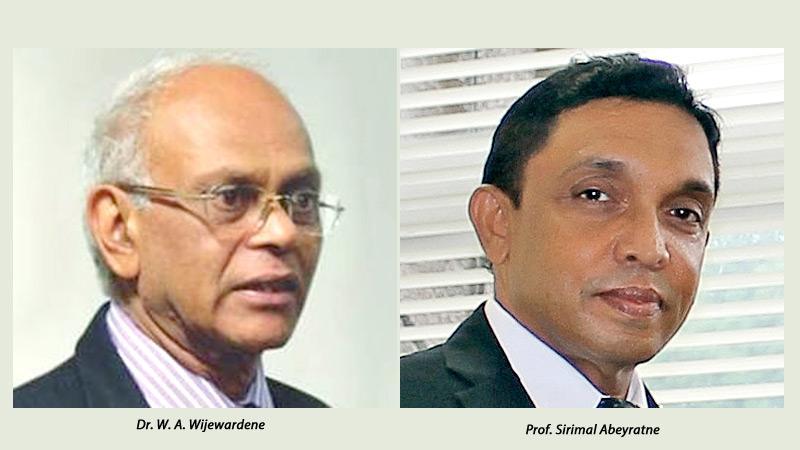 Dr. W. A. Wijewardene-Prof. Sirimal Abeyratn