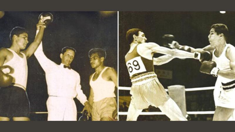 Malcolm Bulner (left) the winner  & Malcolm Bulner (right) in a fight