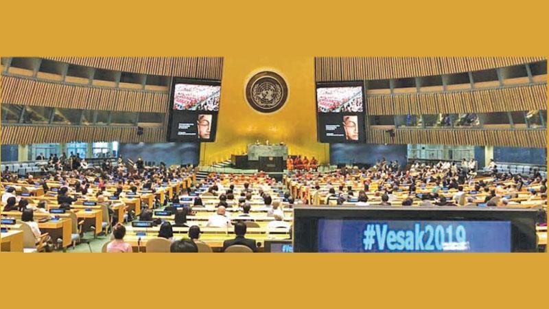International Vesak Day celebrations at the UN last year