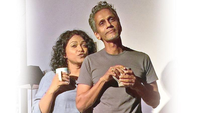A scene from the play 'Forgetting November' (Pix: Sanjana Hattotuwa)