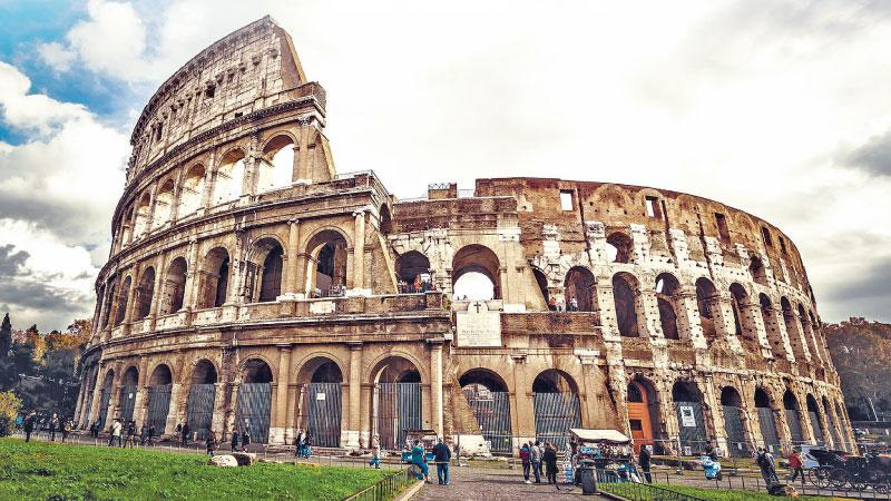 The Colosseum – the largest amphitheatre in the Roman world