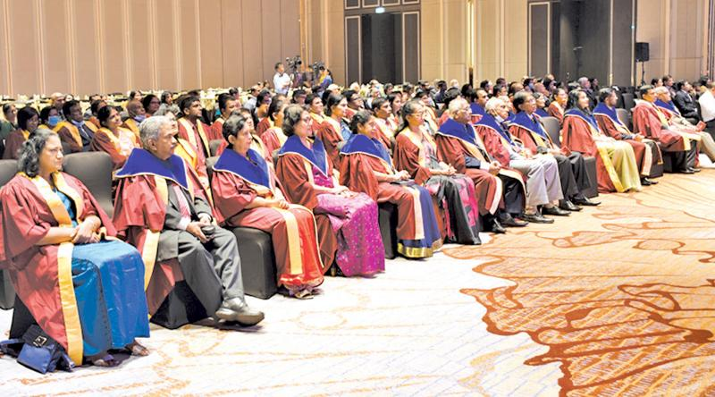Participants at the Annual Academic Sessions of the College of Community Physicians of Sri Lanka