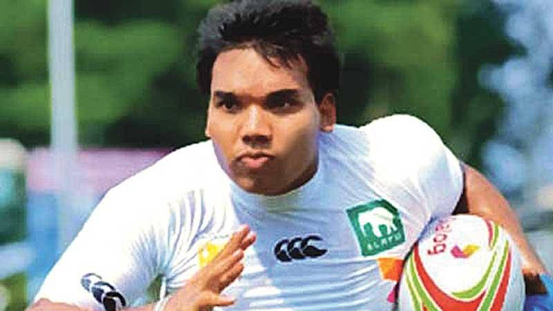 Sports Minister Namal Rajapaksa during his playing days that only rugby fans knew. Today every sport wants a piece of him