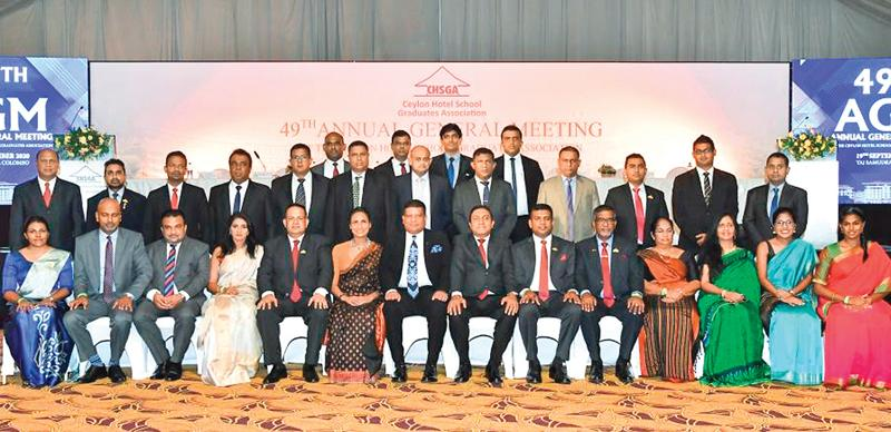 Executive Committee of CHSGA 2021 with keynote speaker Lt. Gen. Shavendra Silva, and guest of honour Ms Kimali Fernando, Chairperson,  Sri Lanka Tourism..