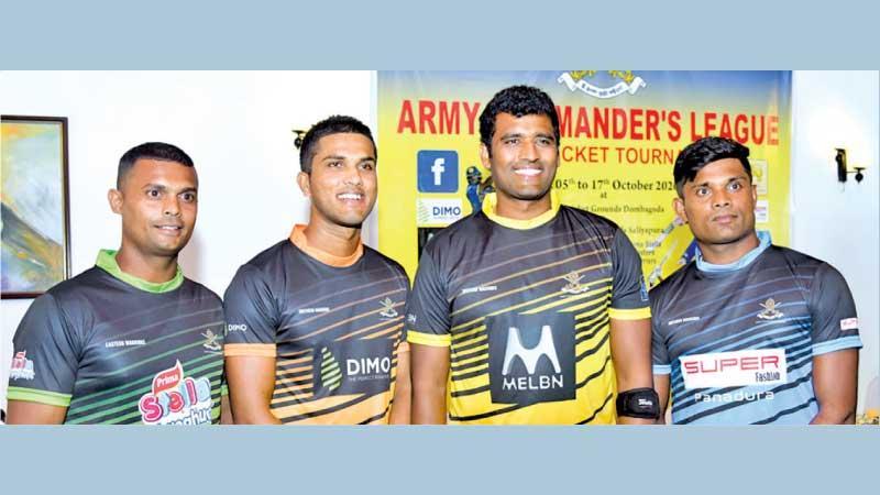 The captains Asela Gunaratna, Dinesh Chandimal, Thisara Perera and Seekkuge Prasanna  (Pic: Samantha Weerasiri)