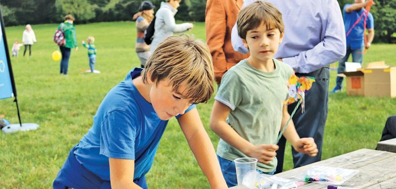 Children enjoying themselves.