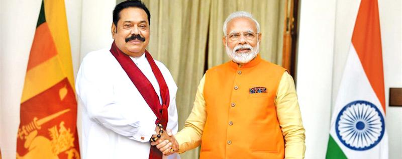 File photo of Indian Prime Minister with his Sri Lankan counterpart
