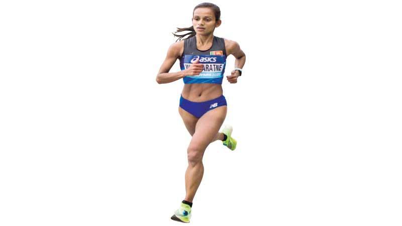 Hiruni Wijayaratne competes at last week's aborted World Half Marathon in Poland (Pix by Nathan Castner)