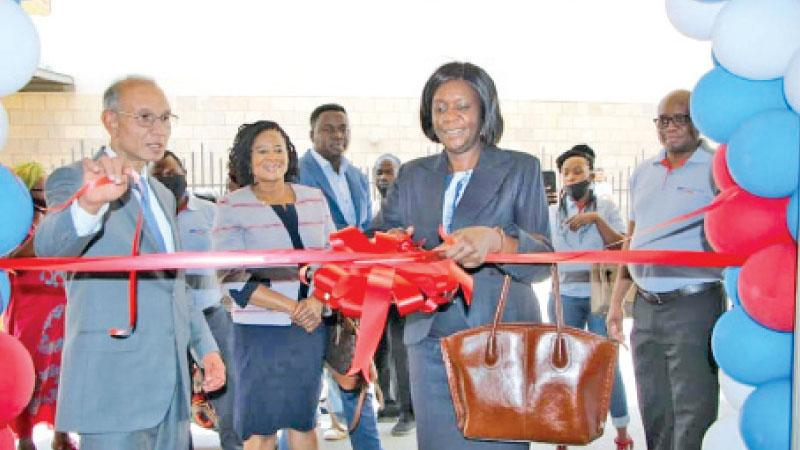 Director, Non-Bank Supervision, Bank of Zambia, Ms. Freda Tamba and  Chief Executive Officer, Africa Region of LOLC, Elmo Jayetileke open LOLC Finance Zambia Limited branch in Lusaka.