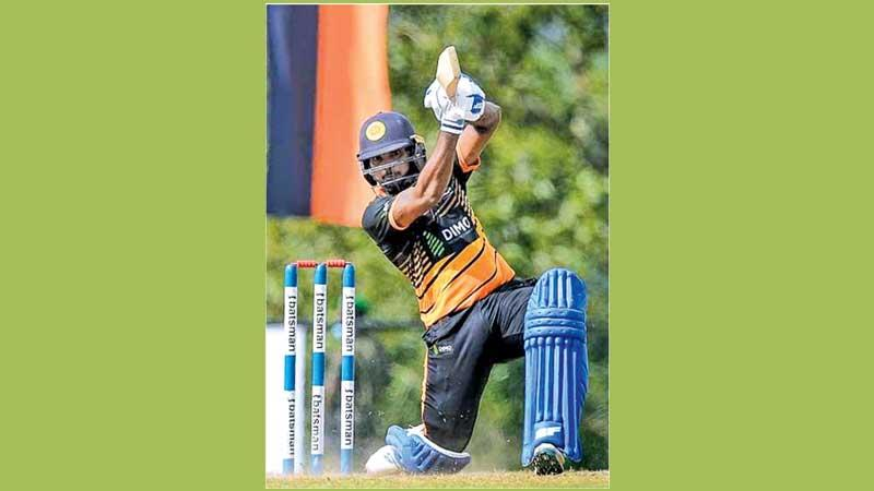 Hasaranga de Silva, one of Sri Lanka's young hardcore T20 players on the rise plays a shot during a domestic final last week. He will play in the LPL for a team called the Jaffna Stallions (Pic by Sameera Peiris)