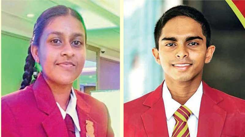 2020 Observer-Mobitel Most Popular Schoolgirl Cricketer of the Year, Nimesh Wijesundera of Marapola MV, Minuwangoda-2020 Observer-Mobitel Most Popular Schoolboy Cricketer of the Year, Anuda Jayaweera of  Ananda College, Colombo
