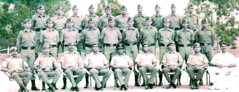 SLAF Intake 11- Thibba standing first row from the right