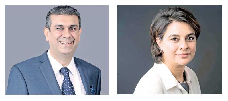Nikhil Advani,  CEO of AIA Sri Lanka-Amena Arif,  IFC Country Manager for Sri Lanka and Maldives