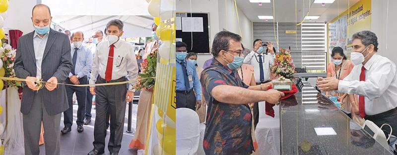 (On left:) The opening of the branch. (On right): The first transaction