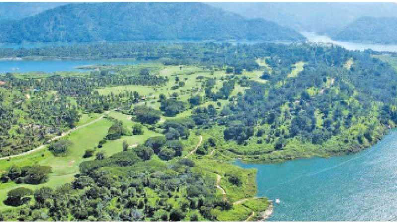 General view of the Victoria Golf and Country Resort in Digana, Kandy