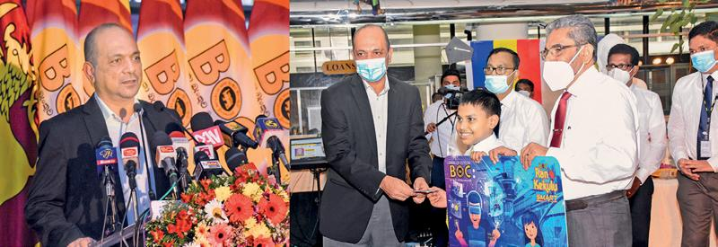Moments captured at the Bank of Ceylon's New Year ceremony.