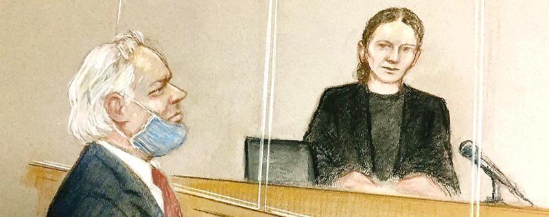 Assange and District Judge Vanessa Baraitser