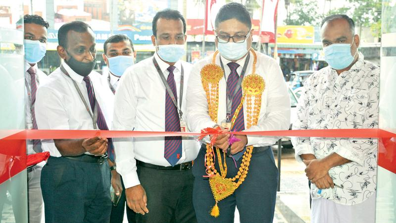 The opening of the branch in progress.