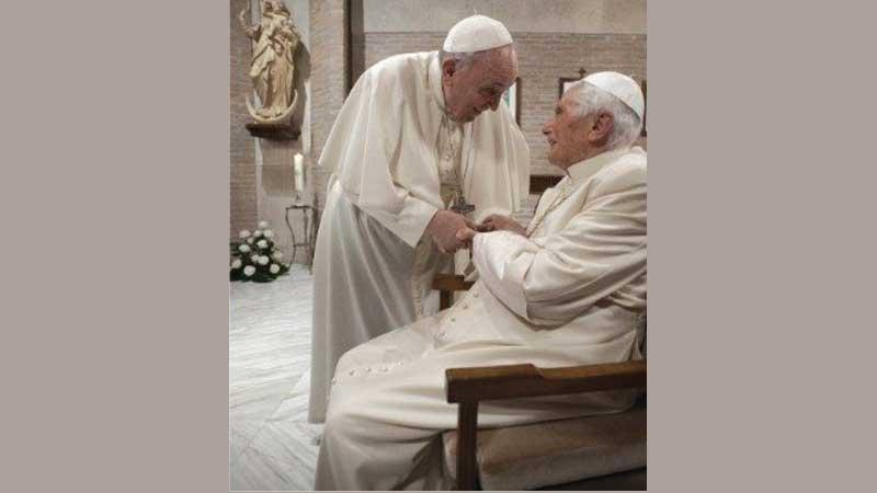 Pope Francis and Pope Emeritus Benedict XVI receive their first doses of the Covid-19 vaccine in the Vatican.
